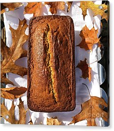 Banana Bread With Rum, Ginger And White Whole Wheat Acrylic Print