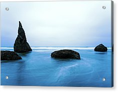 Acrylic Print featuring the photograph Bandon By The Sea Aqua Blue by Rospotte Photography