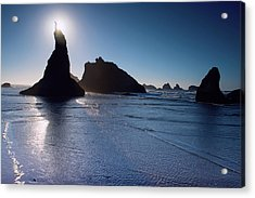 Acrylic Print featuring the photograph Bandon Oregon Beach Stroll 102018 by Rospotte Photography