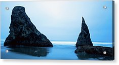 Acrylic Print featuring the photograph Bandon Oregon Blue 101918 by Rospotte Photography