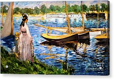Banks Of The Seine At Argenteuil Acrylic Print