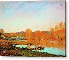 Banks Of The Seine Near Bougival - Digital Remastered Edition Acrylic Print