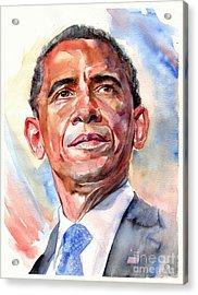 Barack Obama Portrait Acrylic Print