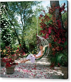 Barbados Bliss Acrylic Print by Slim Aarons