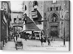 Barcelona Street Scene Acrylic Print by Hulton Archive