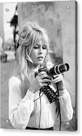 Bardot During Viva Maria Shoot Acrylic Print by Ralph Crane