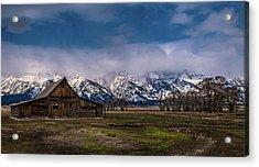 Barn At Mormon Row Acrylic Print