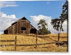 Barn With Fence In Foreground Acrylic Print