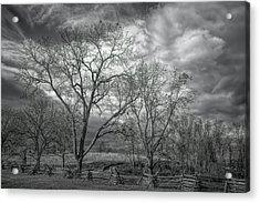 Acrylic Print featuring the photograph Barren Fields by John M Bailey