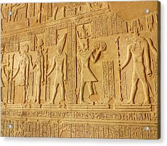 Bas Relief Figures And Hieroglyphics On Acrylic Print by Fred Bahurlet / Eyeem