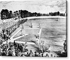 Baseball Game Acrylic Print by Hulton Archive