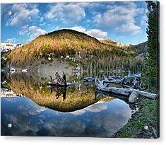 Basin Lake Sunrise Acrylic Print by Leland D Howard