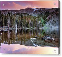 Basin Lake Sunset Acrylic Print by Leland D Howard
