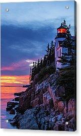 Bass Harbor Head Lighthouse At Twilight Acrylic Print