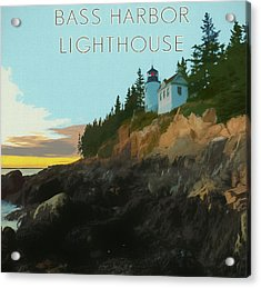Bass Harbor Lighthouse Poster Acrylic Print