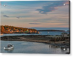 Acrylic Print featuring the photograph Bass Harbor Sunset by Rick Hartigan