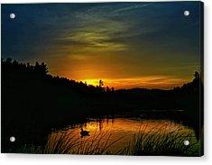 Bass Lake Sunrise Duck Acrylic Print