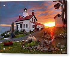 Acrylic Print featuring the photograph Battery Point Lighthouse by Leland D Howard
