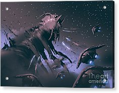 Battle Between Spaceships And Insect Acrylic Print