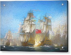 Battle Of Chesapeake Acrylic Print
