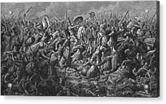 Battle Of Pharsalus Acrylic Print by Kean Collection