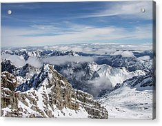 Acrylic Print featuring the photograph Bavarian Alps, Zugspitze by Dawn Richards