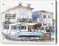 Acrylic Print featuring the digital art Bayou Restaurant by Barry Jones