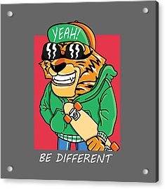 Be Different - Baby Room Nursery Art Poster Print Acrylic Print