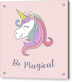 Be Magical - Baby Room Nursery Art Poster Print Acrylic Print