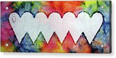 Be Still My Beaded Hearts Acrylic Print
