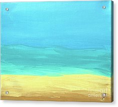 Beach Abstract Acrylic Print