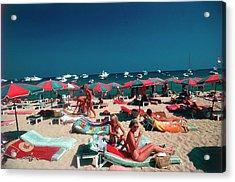 Beach At St. Tropez Acrylic Print