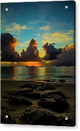 Beach At Sunset 2 Acrylic Print