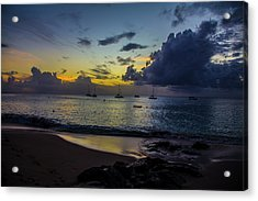 Beach At Sunset 3 Acrylic Print