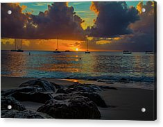 Beach At Sunset Acrylic Print