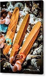 Beach Boards Acrylic Print
