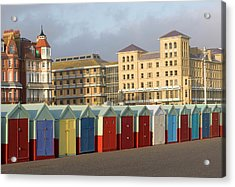 Beach Huts In Brighton Acrylic Print by Martin Richardson/a.collectionrf