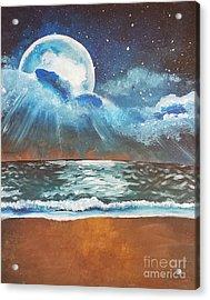 Beach Moon  Acrylic Print
