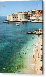 Beach Of Dubrovnik Acrylic Print by Spooh