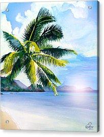 Beach Scene Acrylic Print