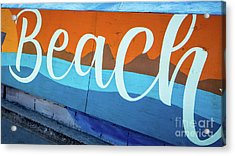 Beach Sign Mission To Pacific Boardwalk Acrylic Print