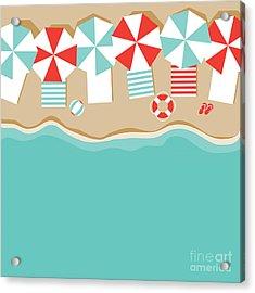 Beach Umbrellas Flat Design Background Acrylic Print