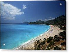 Beach With Polarize Filter Acrylic Print by Kursad