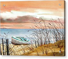 Beached In Breeze Acrylic Print by Art Scholz