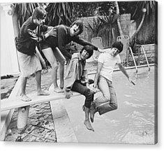 Beatles In La Acrylic Print