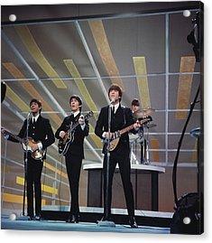 Beatles On Us Tv Acrylic Print by Paul Popper/popperfoto