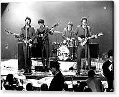 Beatles Perform In Washington, D.c Acrylic Print by Michael Ochs Archives