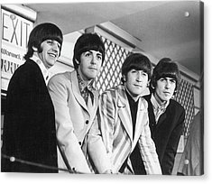 Beatles Press Conference Acrylic Print by Fred W. McDarrah