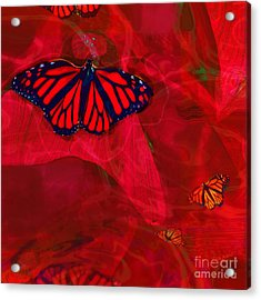 Beautiful And Fragile In Red Acrylic Print