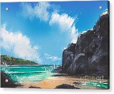 Beautiful Beach Summer Natural Acrylic Print